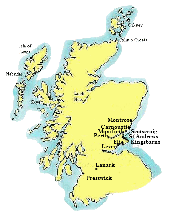 List of Eighteen 18 Oldest Golf Courses - Scottish Golf History Scottish Golf Courses Map on scottish national parks map, scotland map, scottish airports map,